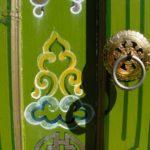 detail peinture porte